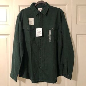SONOMA OLIVE GREEN BUTTON UP